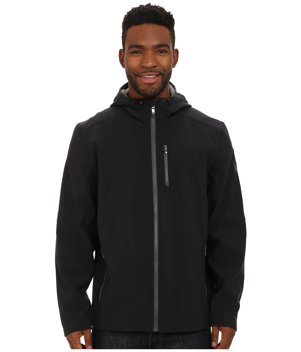 Spyder - Patsch Soft Shell Jacket (Black/Polar) Men's Jacket