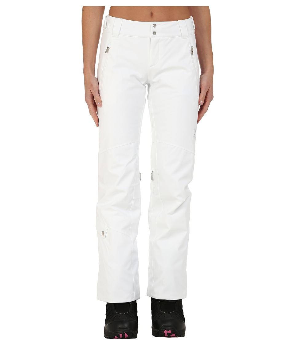 Spyder - The Traveler Athletic Fit Pants (White) Women's Outerwear
