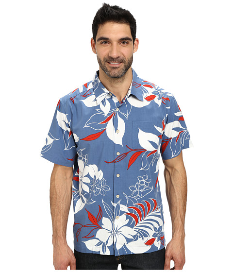 Quiksilver Waterman - The 4th Woven Top (Indigo) Men's Short Sleeve Button Up