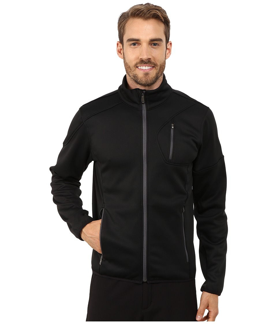 Spyder - Bandit Full Zip Fleece Top (Black/Polar) Men's Fleece