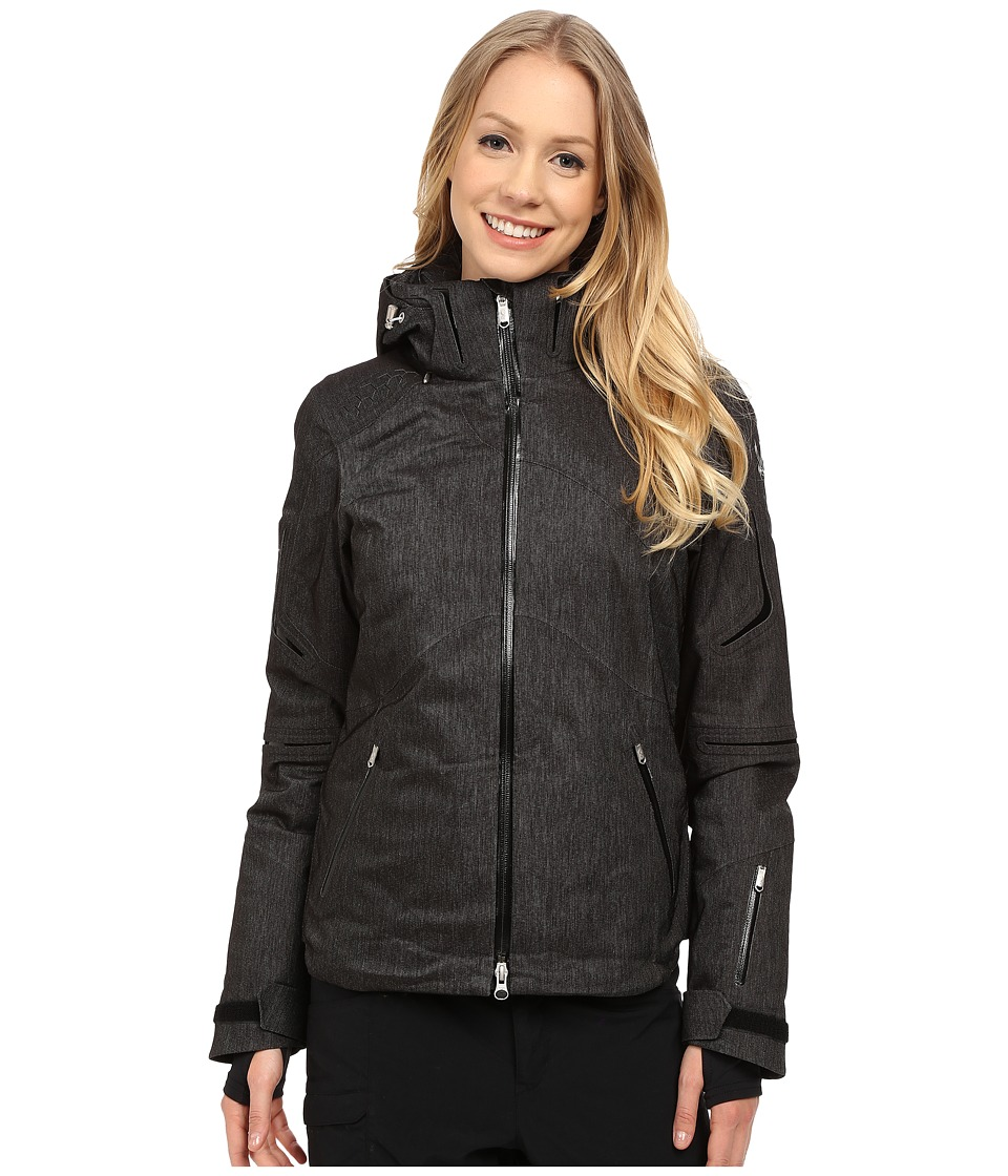 Spyder - Hera Jacket (Black Denim/Black/Black) Women's Coat