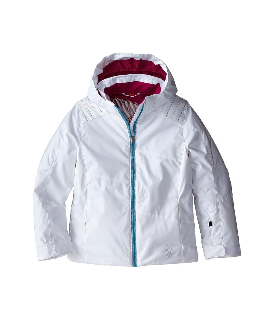 Spyder Kids - Glam Jacket (Big Kids) (White/Multi/Wild) Girl's Coat