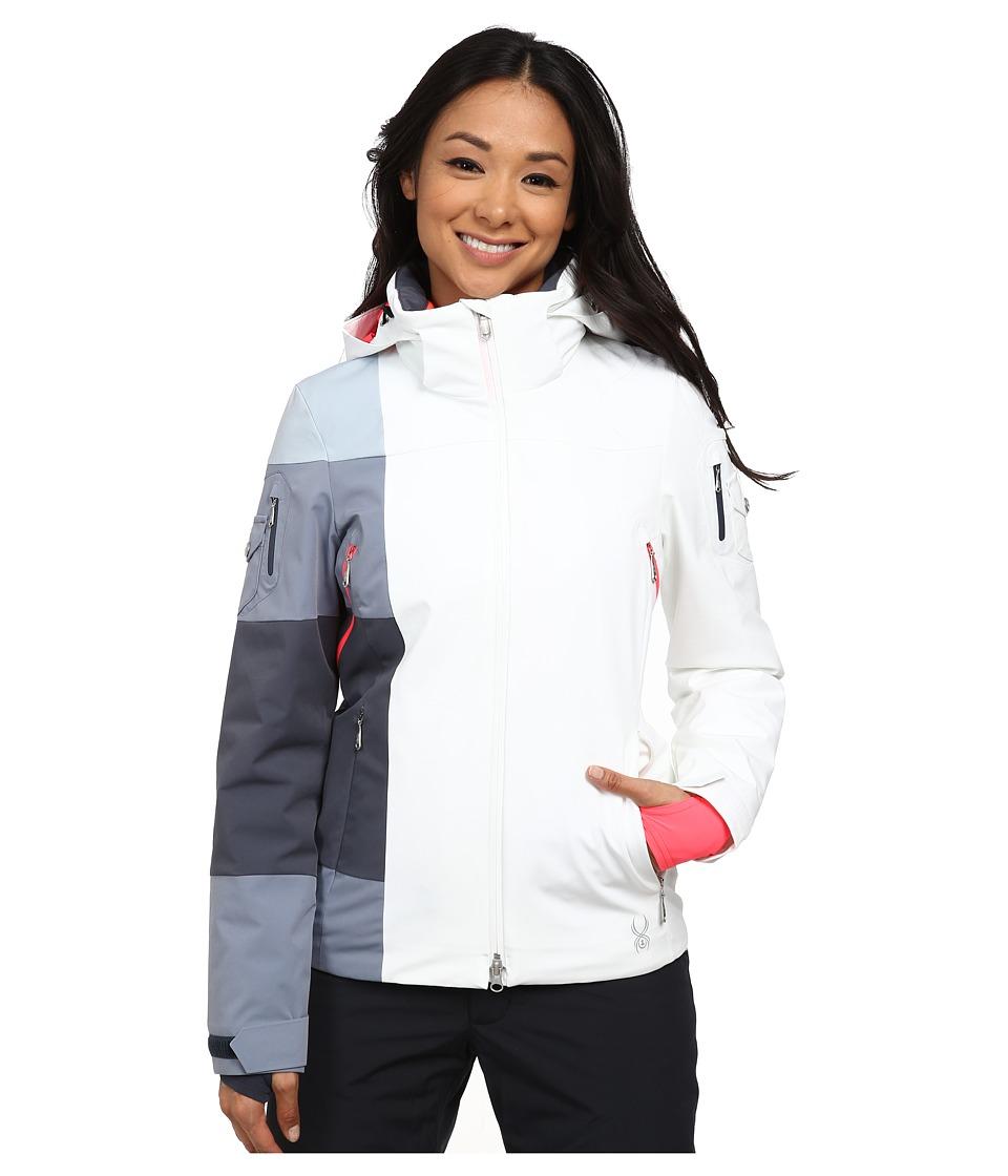 Spyder - Temerity Jacket (White/Depth/Bryte Pink) Women