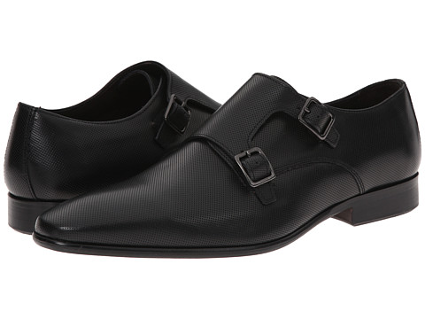 Testoni BASIC - D45937 Buckle Cuoio Cordoba Punch (Nero/Dark Metal Cuoio Nubuck) Men's Shoes