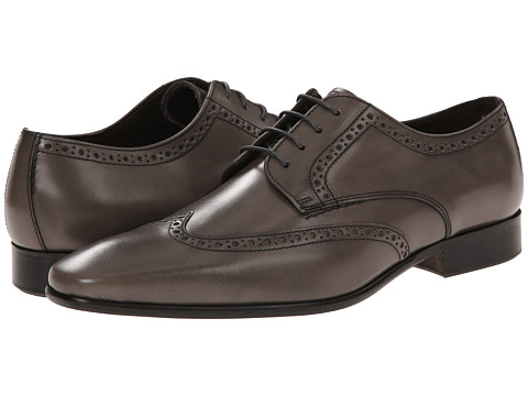 Testoni BASIC - D45938 Derby Cuoio Cordoba Calf (Graphite Cuoio Nubuck) Men's Shoes