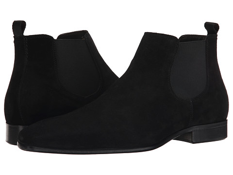 Testoni BASIC - D45936 Beatles Cuoio Piuma Suede Boot (Nero Nubuck) Men's Boots