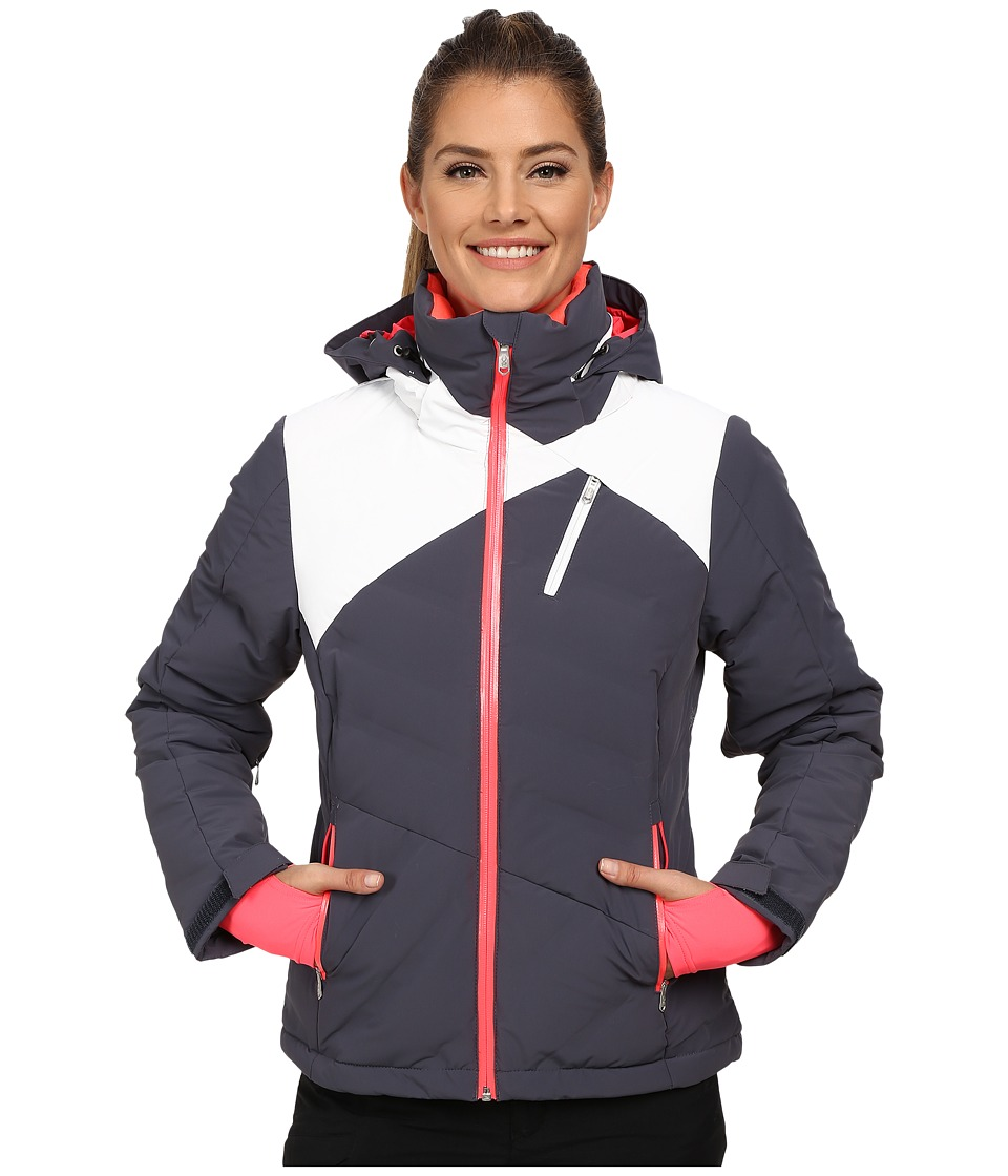 Spyder - Breakout Down Jacket (Depth/White/Bryte Pink) Women's Coat
