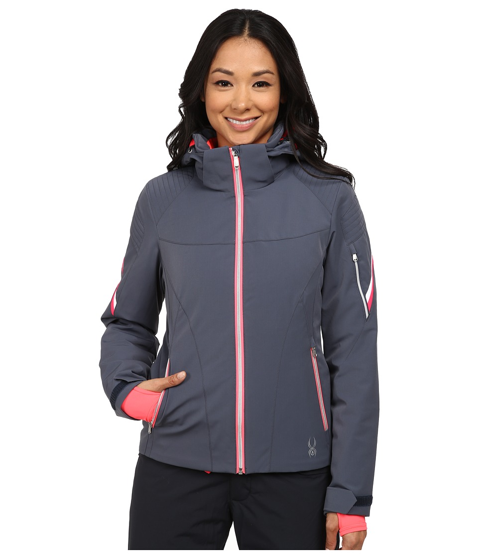 Spyder - Project Jacket (Depth/Bryte Pink/White) Women's Coat
