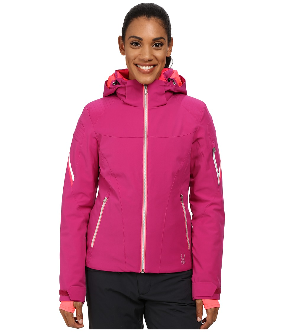 Spyder - Project Jacket (Wild/White/Bryte Pink) Women's Coat