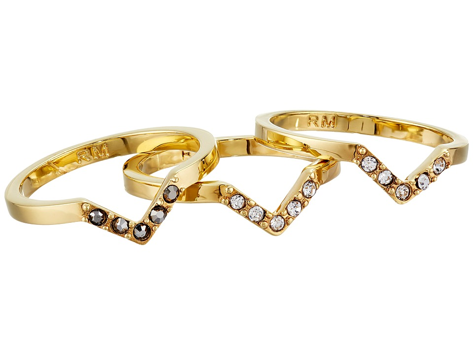 Rebecca Minkoff - Set of Three Rings (Gold Toned/Hematite) Ring