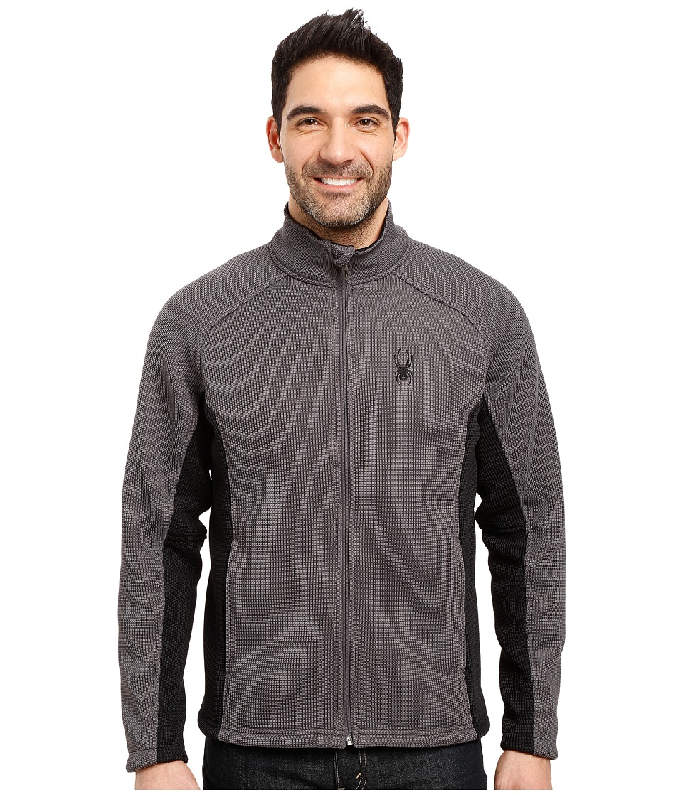 Spyder Foremost Full Zip Heavy Weight Core Sweater (Polar/Black) Men