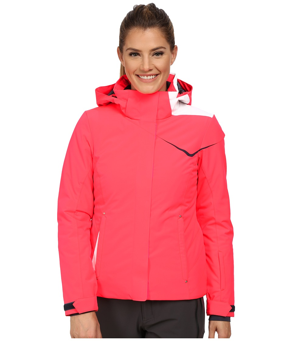 Spyder - Amp Jacket (Bryte Pink/Depth/White) Women's Coat