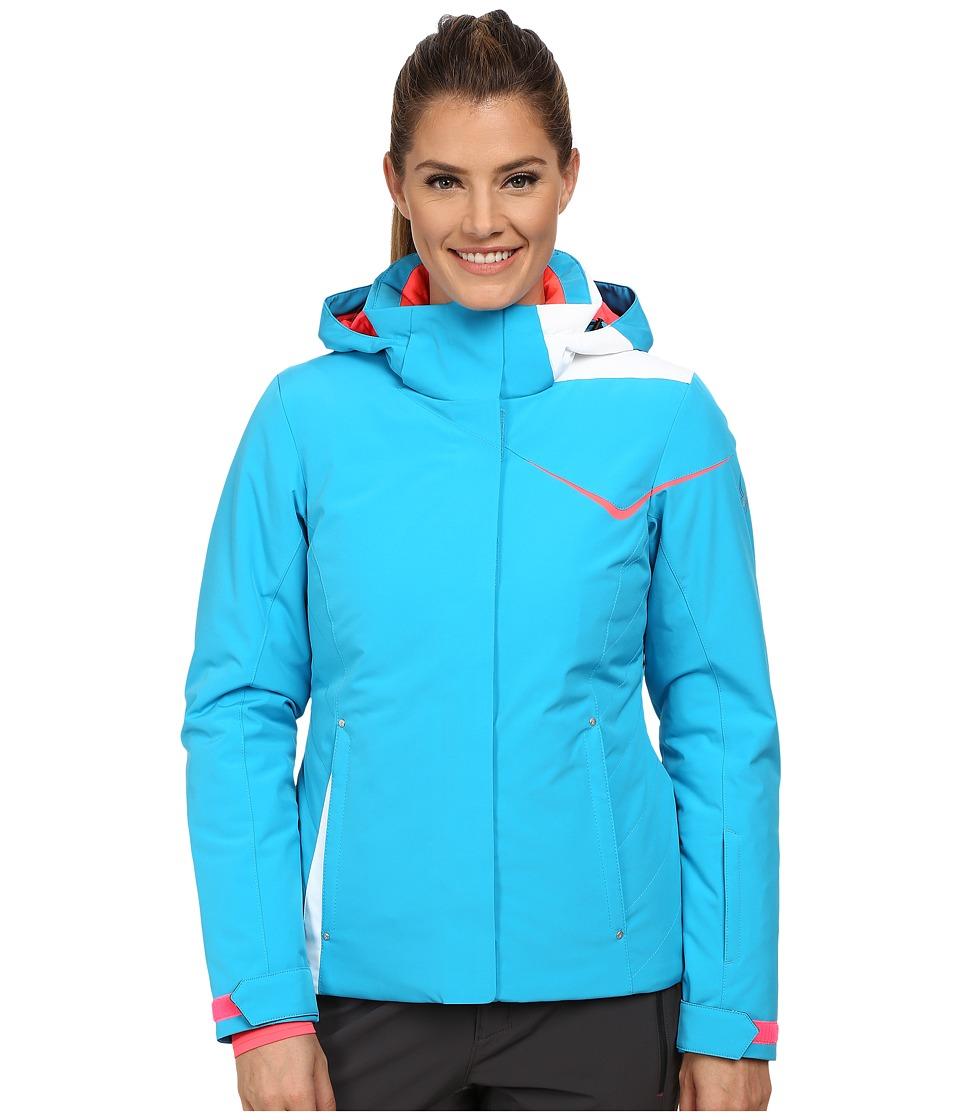 Spyder - Amp Jacket (Riviera/Bryte Pink/White) Women's Coat