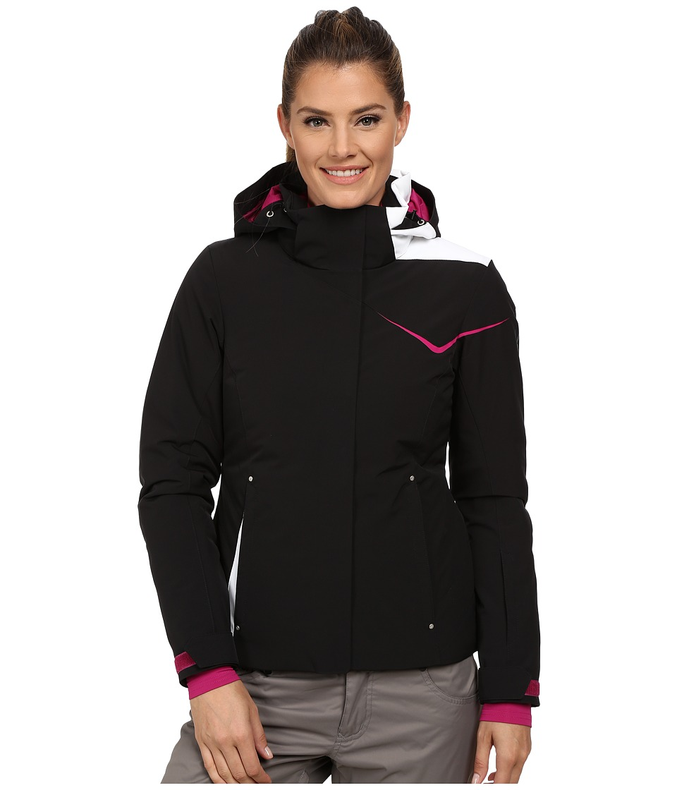 Spyder - Amp Jacket (Black/Wild/White) Women's Coat