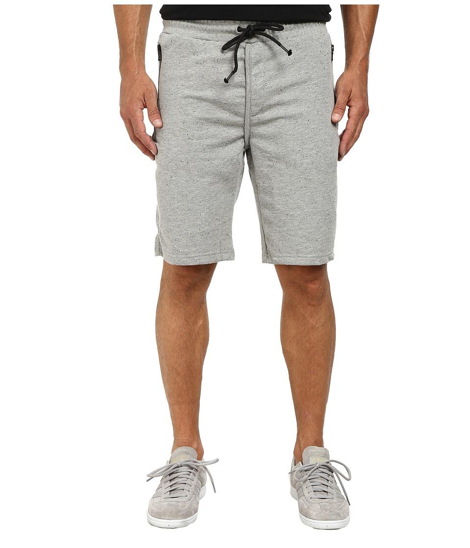 Kenneth Cole Sportswear - Knit Sweat Shorts (Flannel Heather) Men