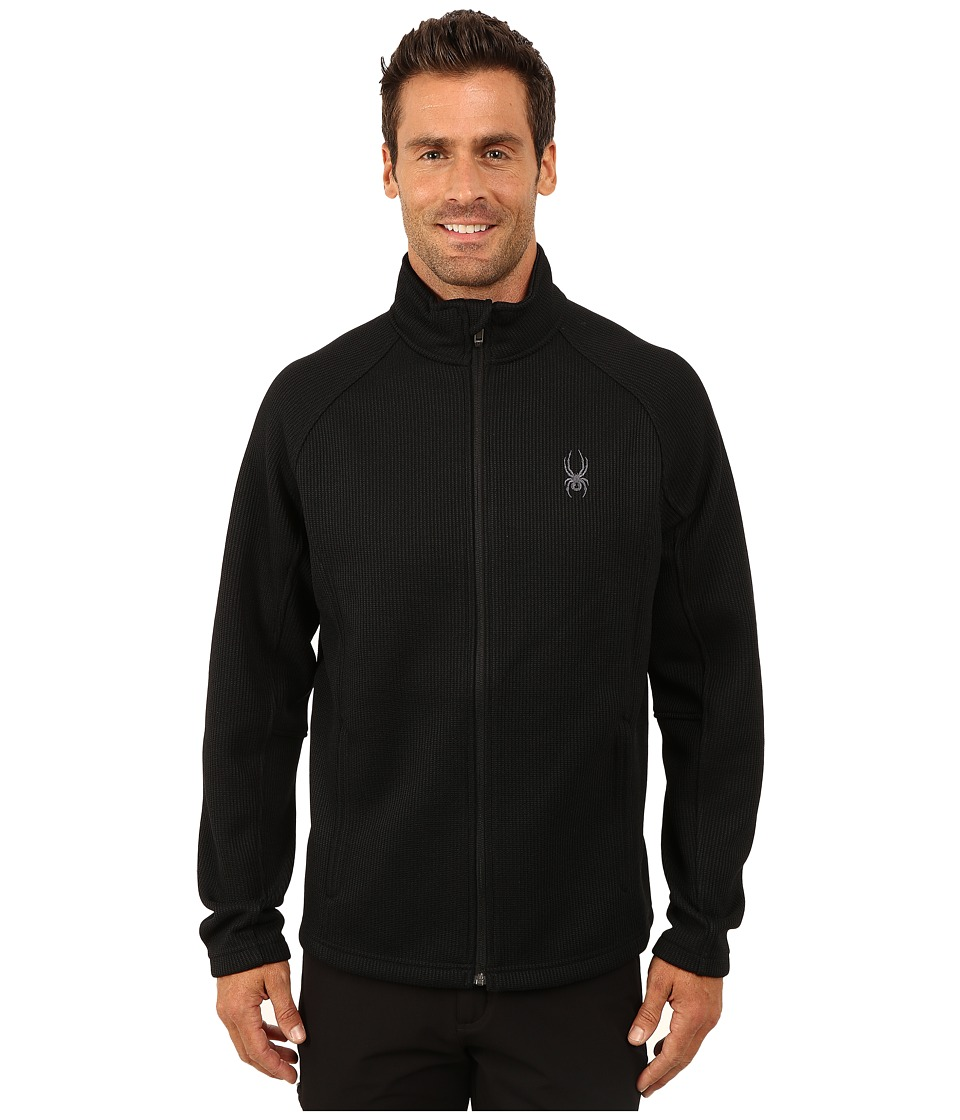 Spyder - Constant Full Zip Mid Weight Core Sweater (Black/Black) Men's Sweater