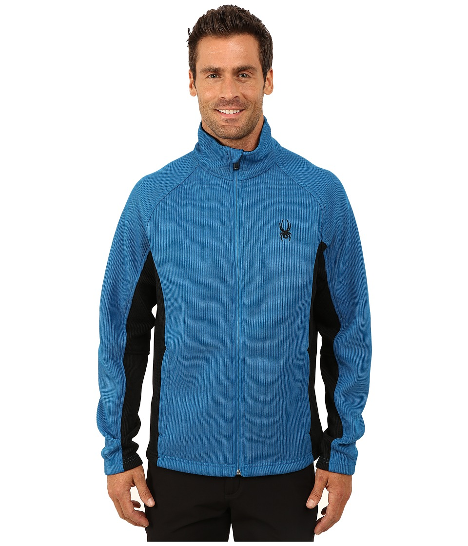 Spyder - Constant Full Zip Mid Weight Core Sweater (Concept Blue/Black) Men's Sweater