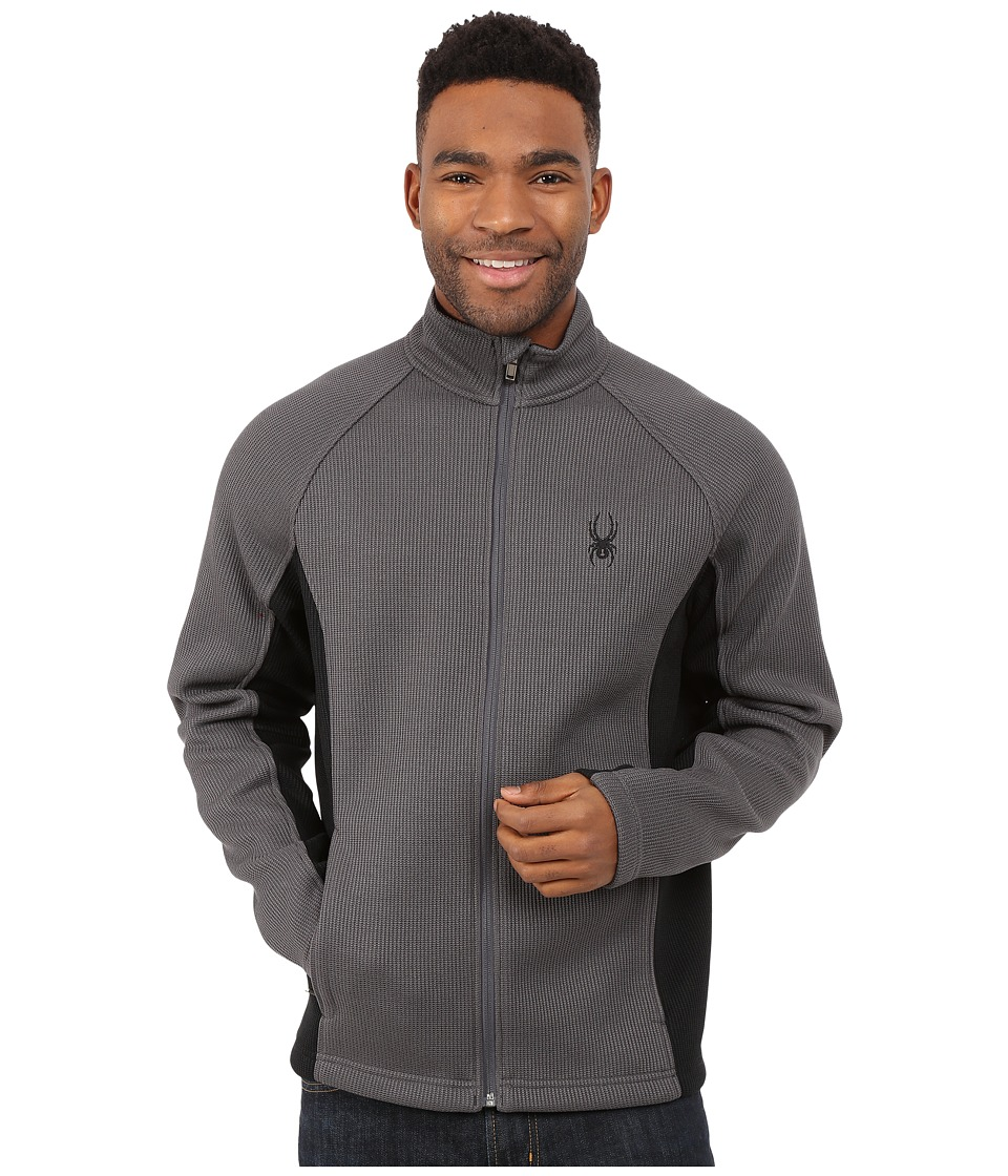 Spyder - Constant Full Zip Mid Weight Core Sweater (Polar/Black) Men's Sweater