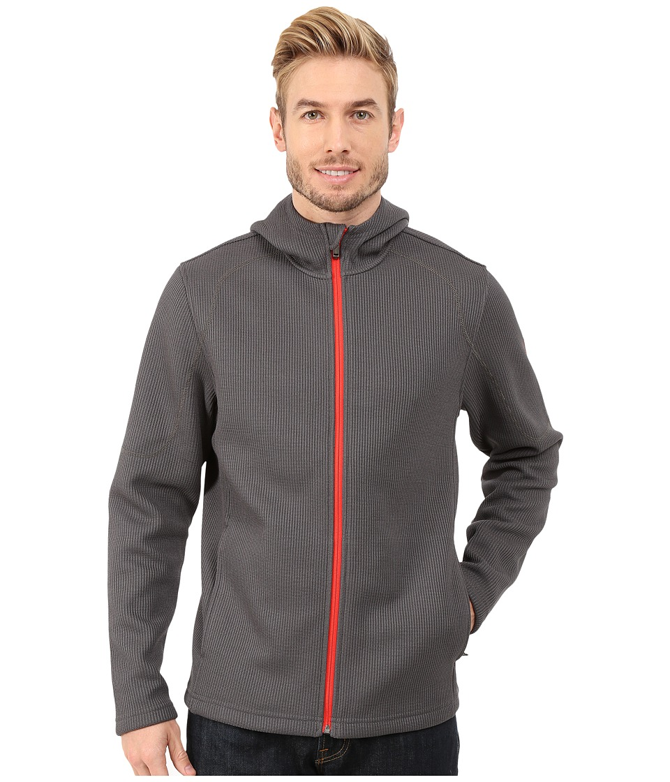 Spyder - Upward Hoodie Mid Weight Core Sweater (Polar/Volcano) Men