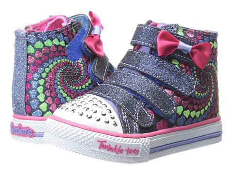 SKECHERS KIDS - Shuffles (Toddler/Little Kid) (Royal/Multi) Girl's Shoes