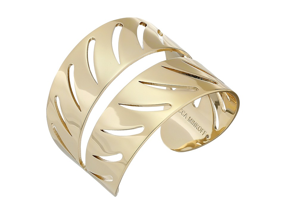 Rebecca Minkoff - Leaf Cuff (Gold Toned) Bracelet
