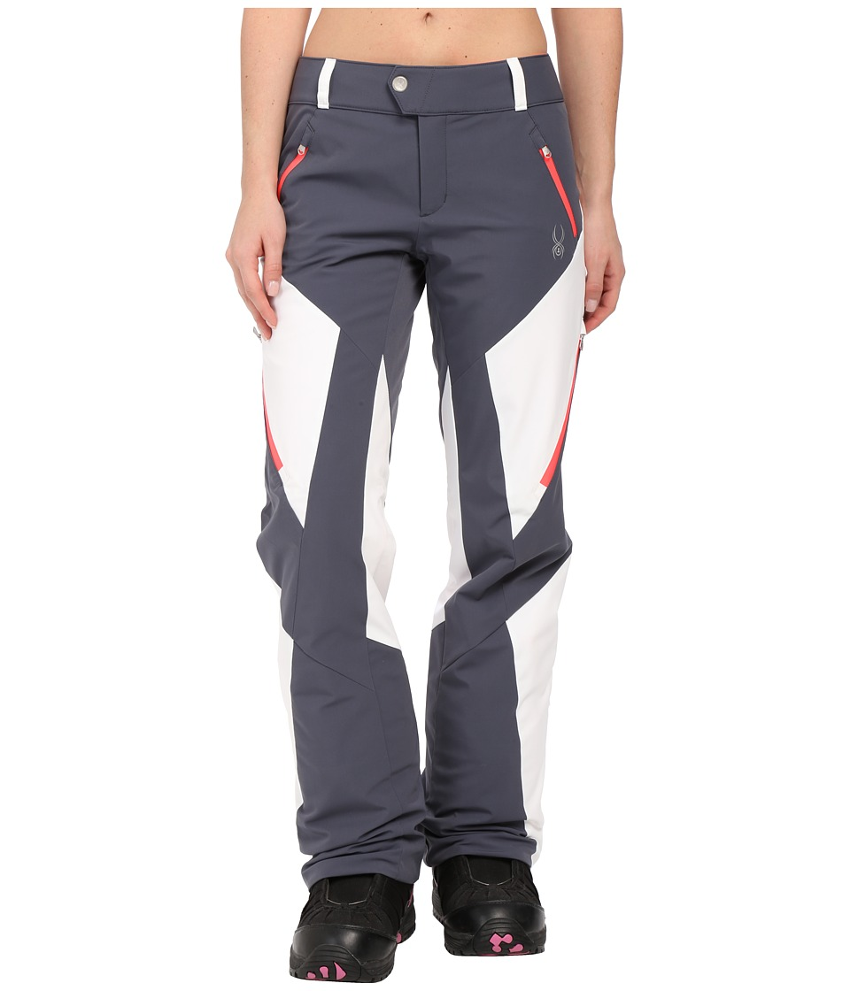 Spyder - Thrill Athletic Fit Pants (Depth/White/Bryte Pink) Women's Outerwear