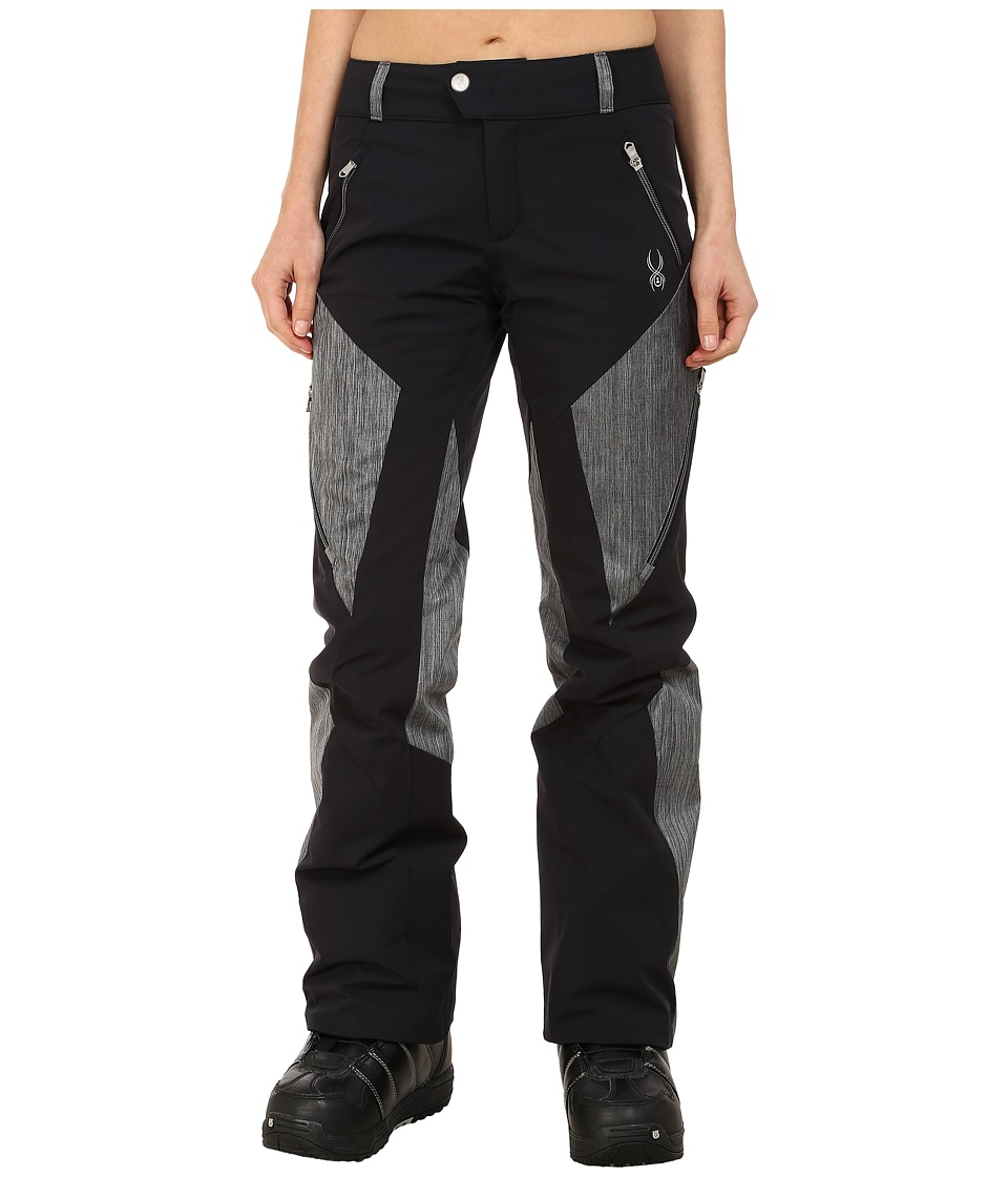 Spyder - Thrill Athletic Fit Pants (Black/Black Linen Fabric) Women's Outerwear