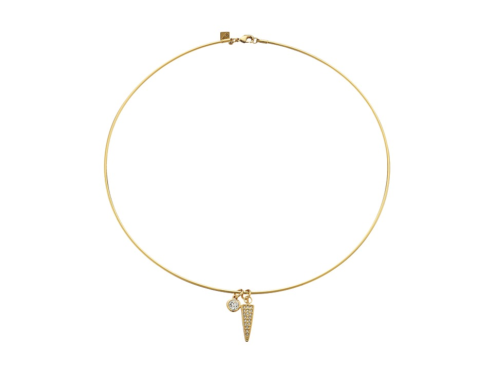 Rebecca Minkoff - Charm Choker (Gold Toned/Pearl/Crystal) Necklace