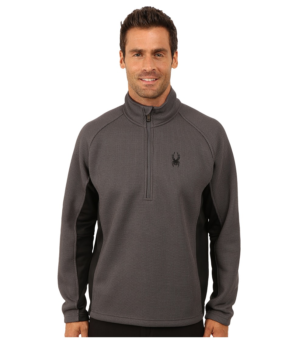 Spyder - Outbound Half Zip Mid Weight Core Sweater (Polar/Black/Polar) Men's Sweater