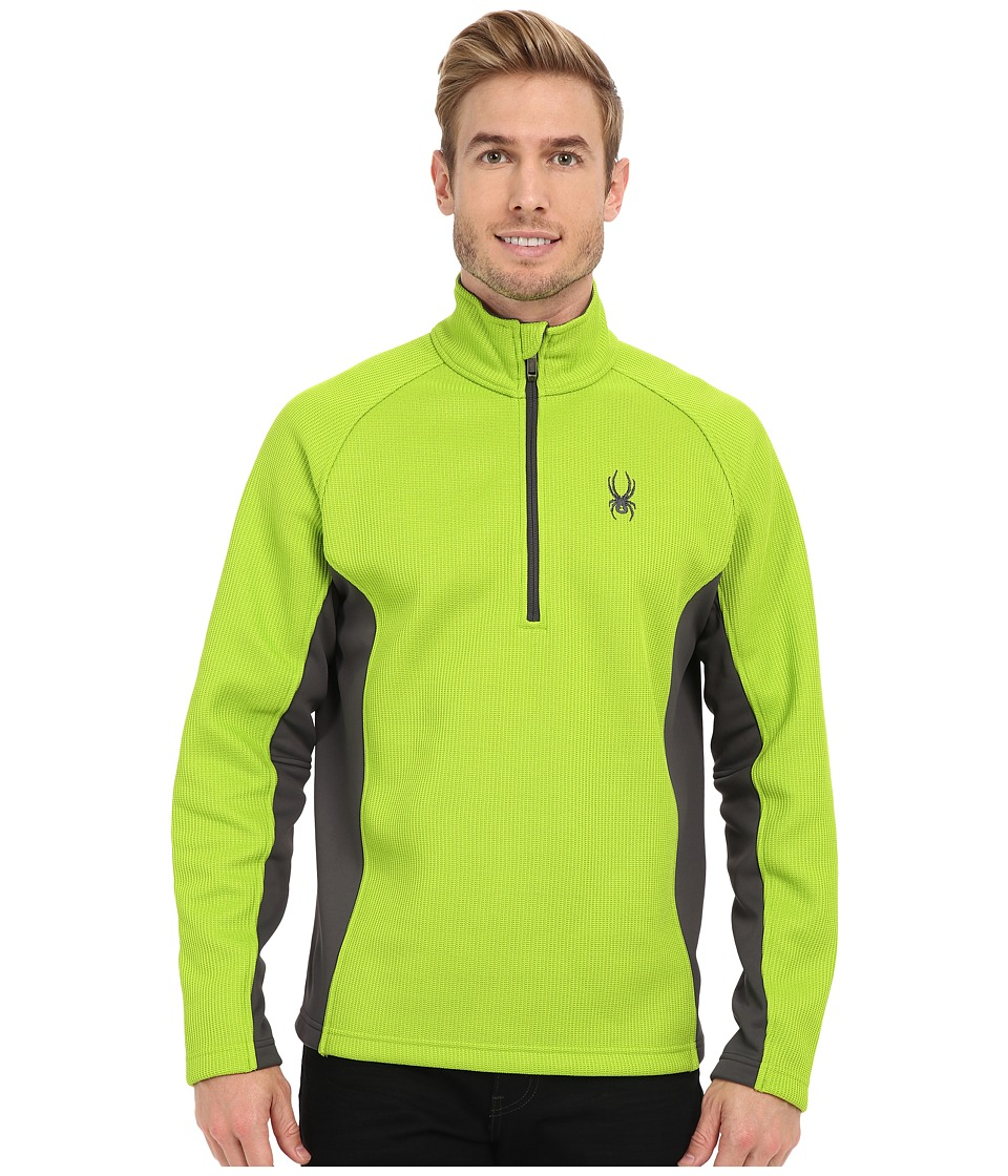 Spyder - Outbound Half Zip Mid Weight Core Sweater (Theory Green/Polar/Polar) Men's Sweater
