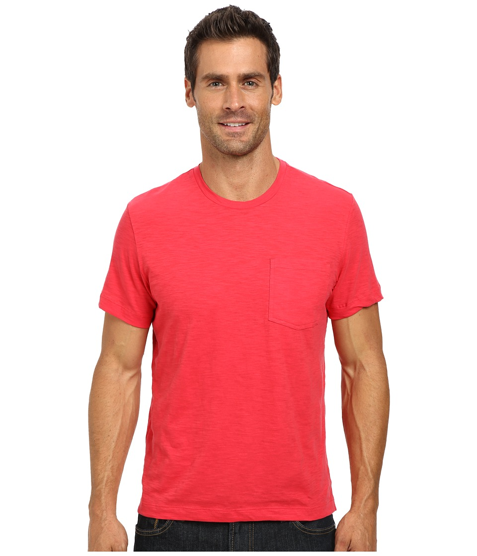Kenneth Cole Sportswear - Short Sleeve Crew Neck Pocket T-Shirt (Coral Reef) Men