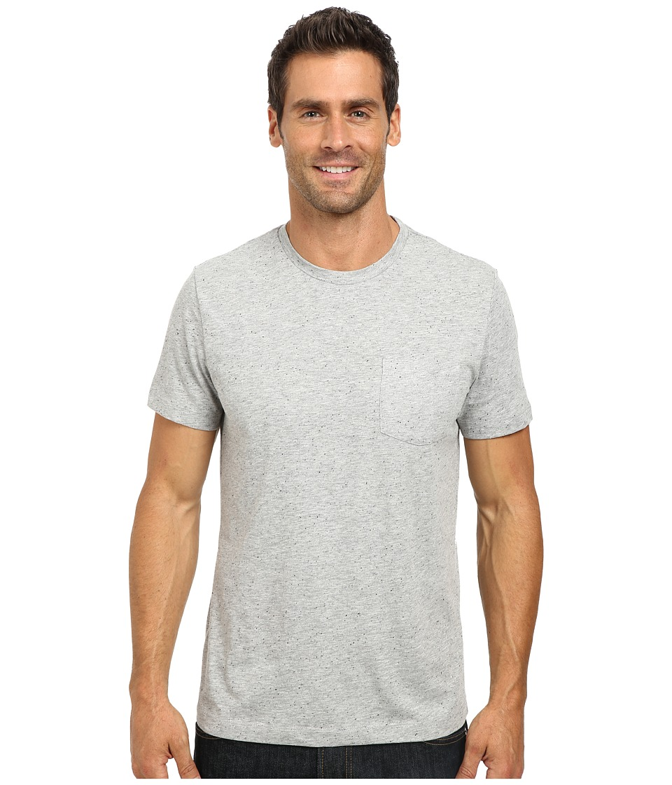 Kenneth Cole Sportswear - Short Sleeve Speckled T-Shirt (Heather Grey) Men's T Shirt