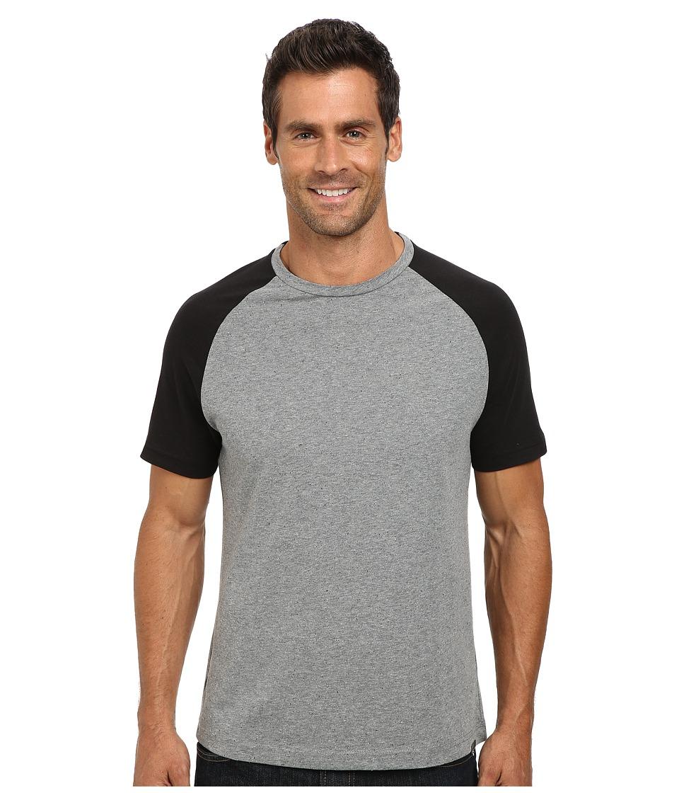 Kenneth Cole Sportswear - Short Sleeve Raglan Speckled T-Shirt (Black) Men