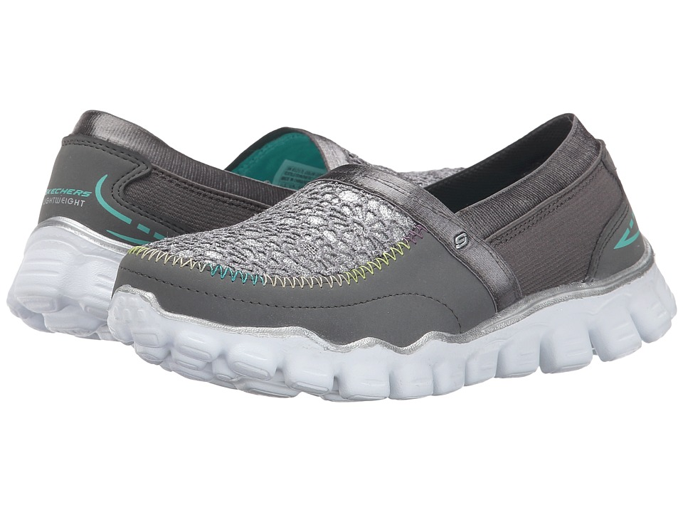 SKECHERS KIDS - Skech Flex II-Sugar Shake (Little Kid/Big Kid) (Charcoal Multi) Girl's Shoes