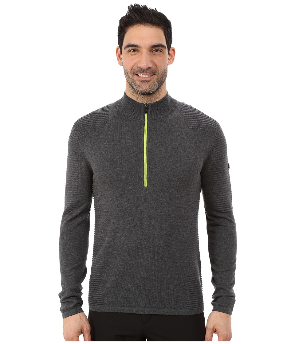 Spyder - Drayke Half Zip Sweater (Polar/Theory Green) Men's Sweater
