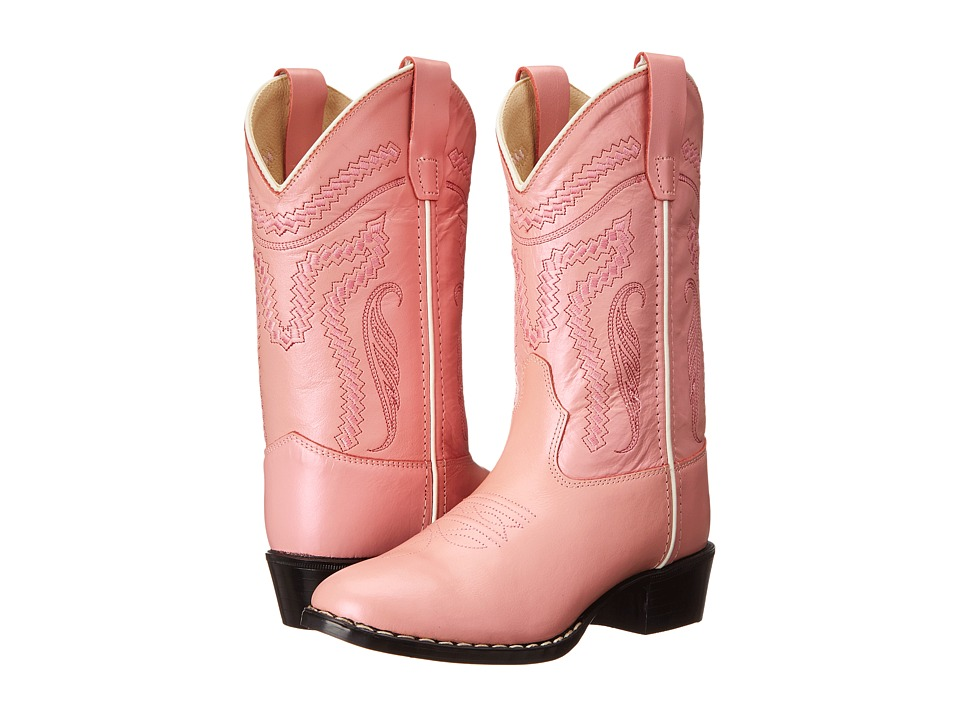 Old West Kids Boots - Western Boots (Toddler/Little Kid) (Silver/Pink) Cowboy Boots