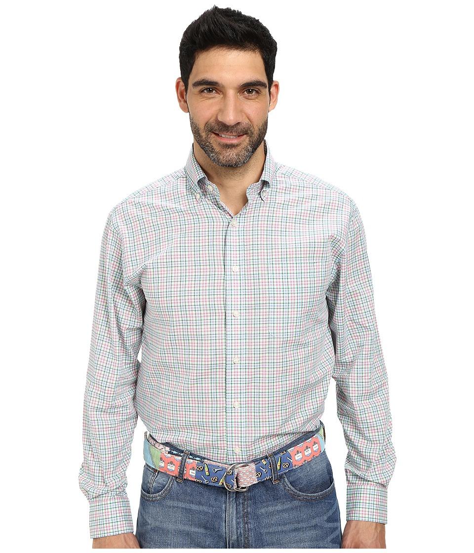 Vineyard Vines - Murray Shirt-Wilbor Plaid (Ocean Breeze) Men's Clothing