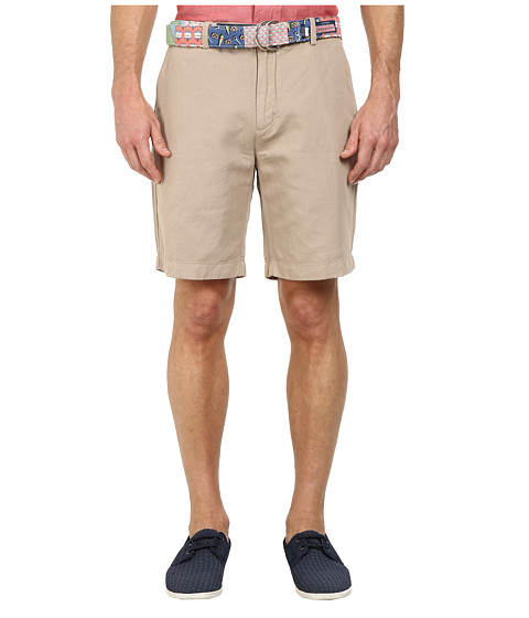 Vineyard Vines - Cotton Linen Garment Dyed Breaker (Khaki) Men's Shorts