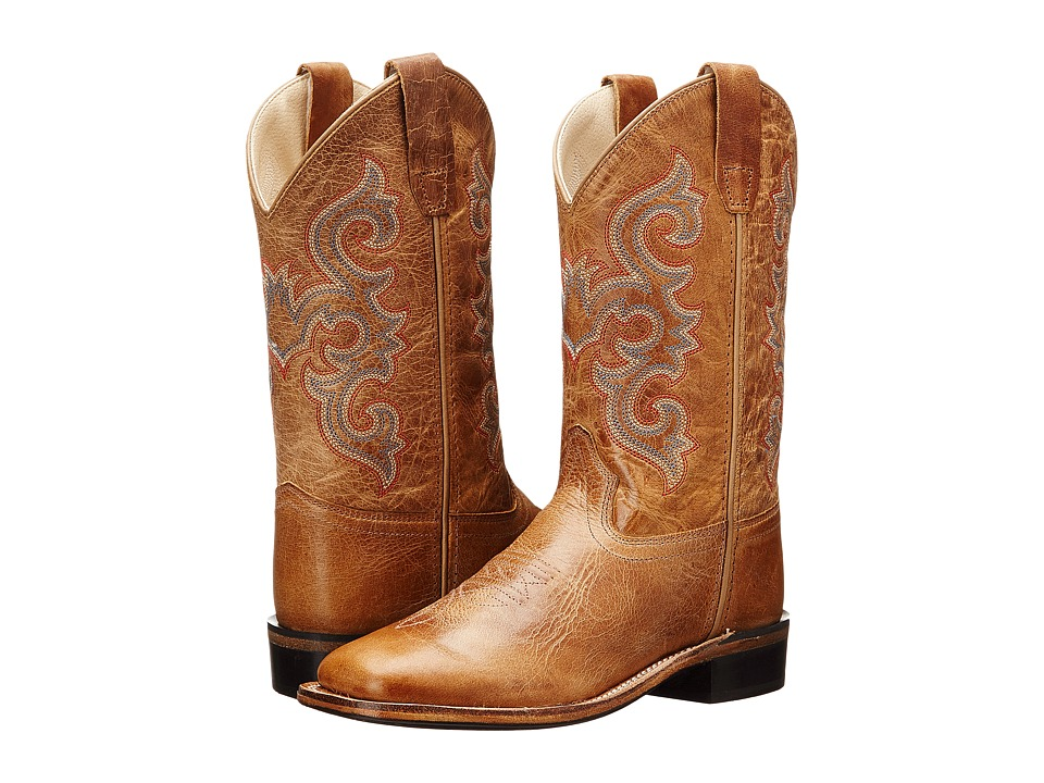 Old West Kids Boots - Western Boots (Toddler/Little Kid) (Tan Fry) Cowboy Boots