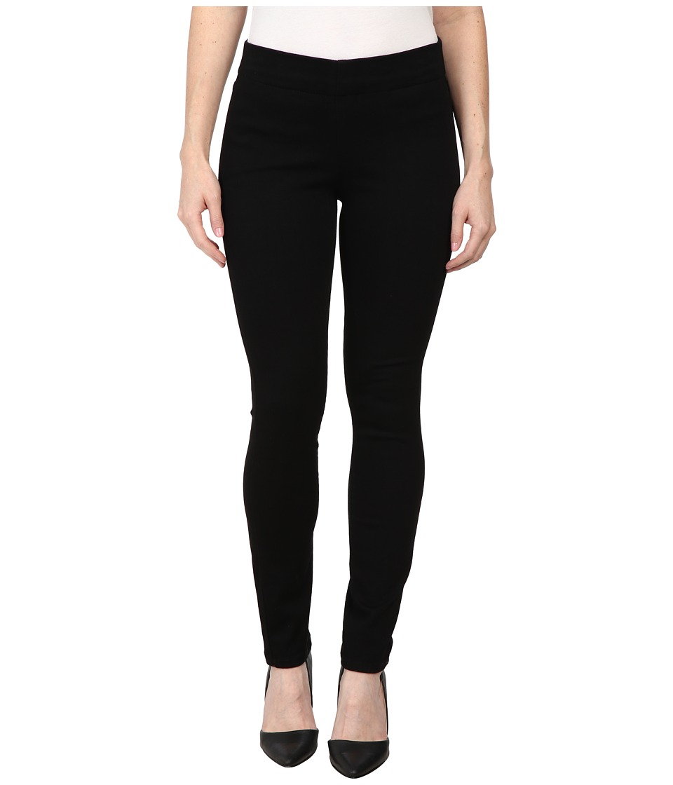 NYDJ Petite - Petite Poppy Pull On Leggings (Black Garm) Women's Casual Pants