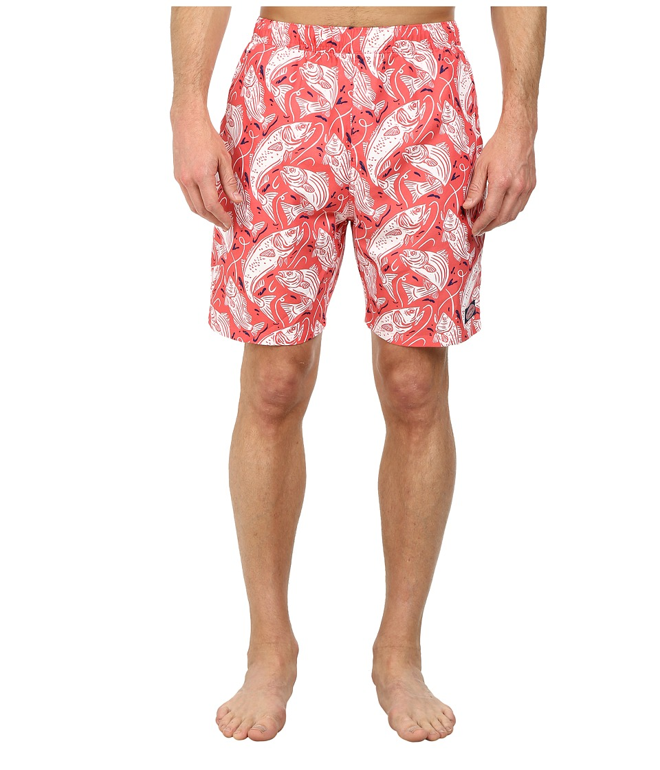 Vineyard Vines - Fish Catch Chappy Trunk (Jetty Red) Men's Swimwear