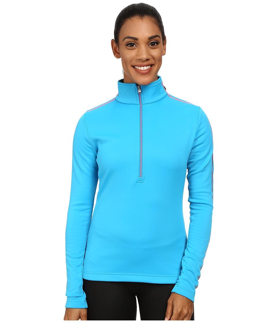 Spyder - St. Moritz Therma Stretch T-Neck (Riviera/Bryte Pink) Women's Sweatshirt