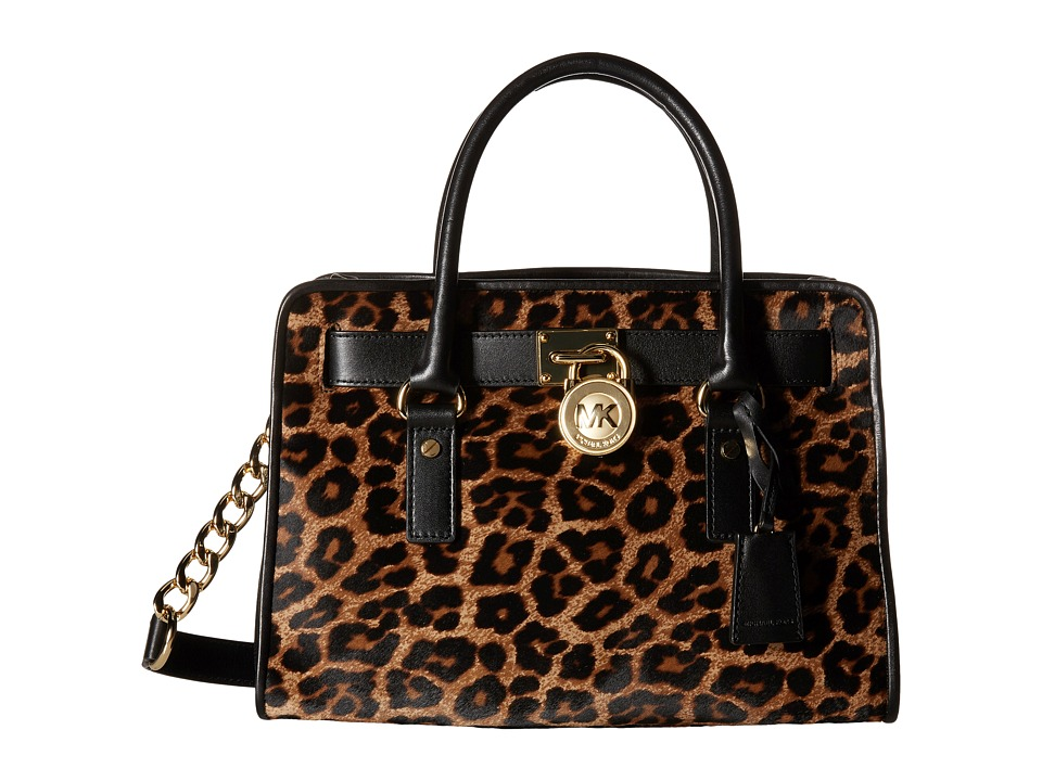 MICHAEL Michael Kors - Hamilton French Binding East/West Satchel (Cheetah Natural) Satchel Handbags
