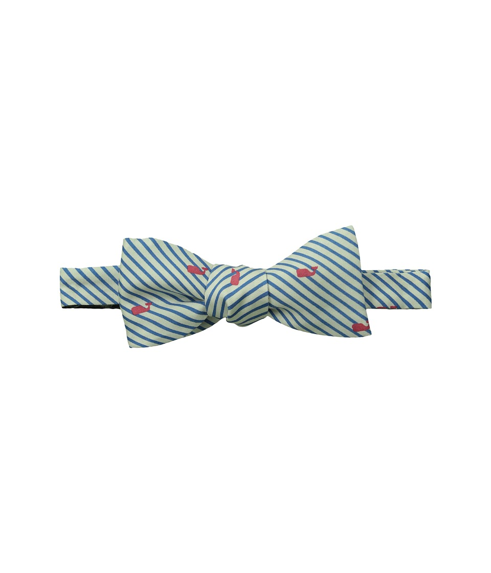 Vineyard Vines - Printed Bow Tie-Whales Strip (Royal Blue) Ties