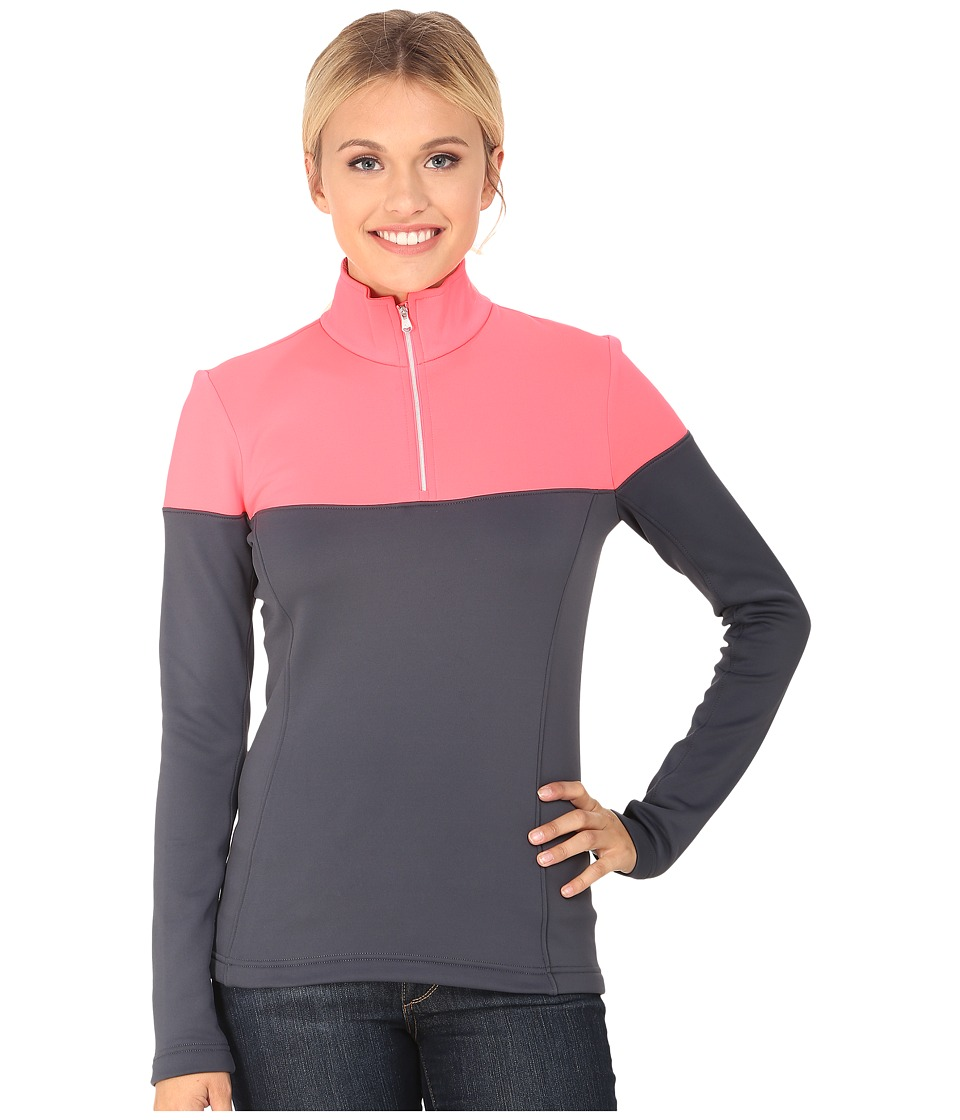 Spyder - Etna Therma Stretch T-Neck (Depth/Bryte Pink) Women's Long Sleeve Pullover