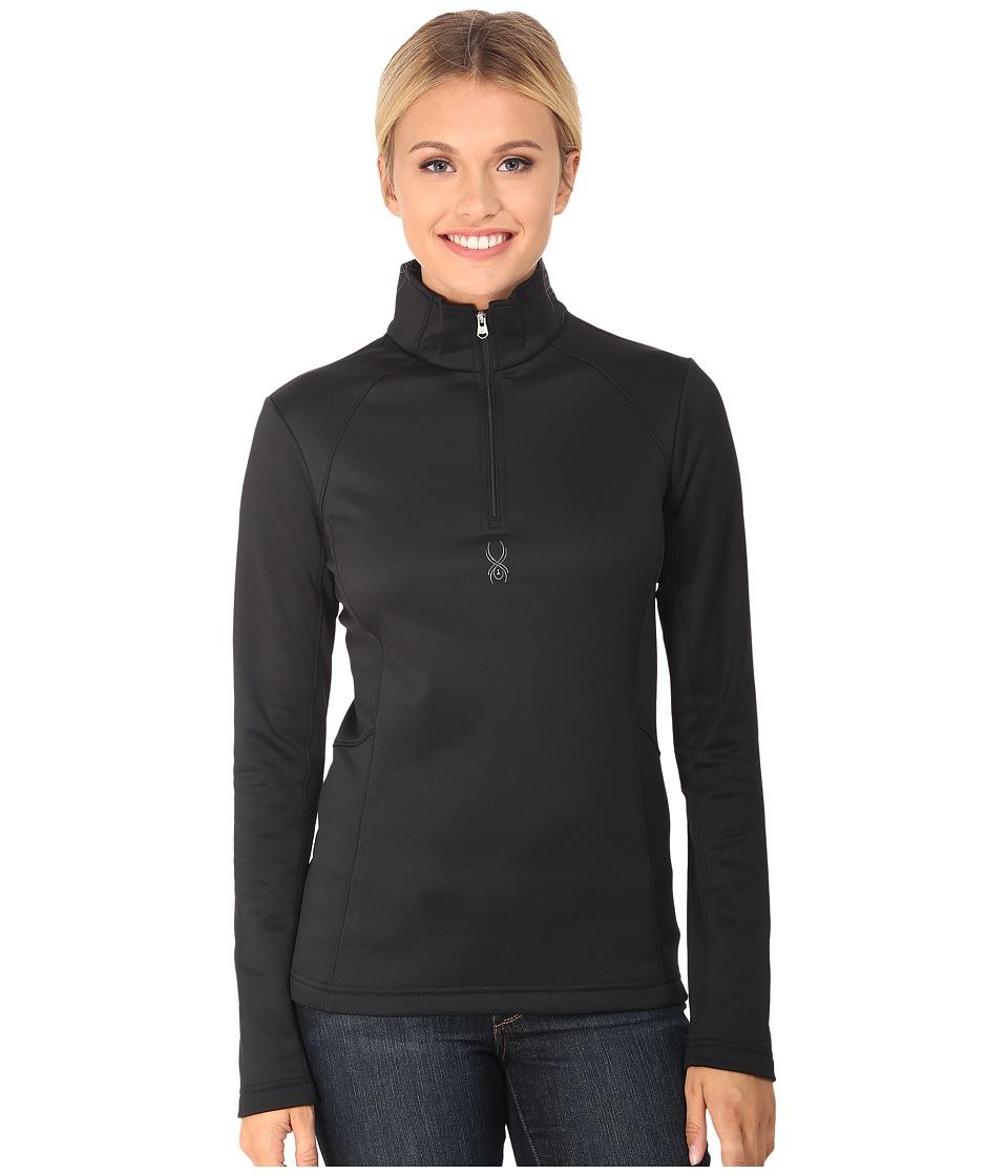 Spyder - Savona Therma Stretch T-Neck (Black) Women's Long Sleeve Pullover