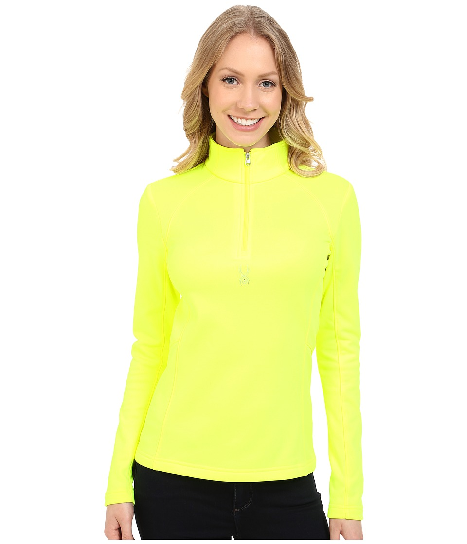 Spyder - Savona Therma Stretch T-Neck (Bryte Yellow) Women's Long Sleeve Pullover