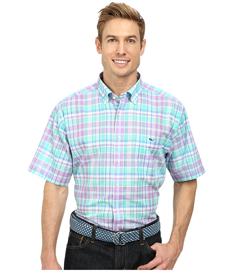 Vineyard Vines - Short Sleeve Tucker Shirt Kingscote (Sea Urchin) Men