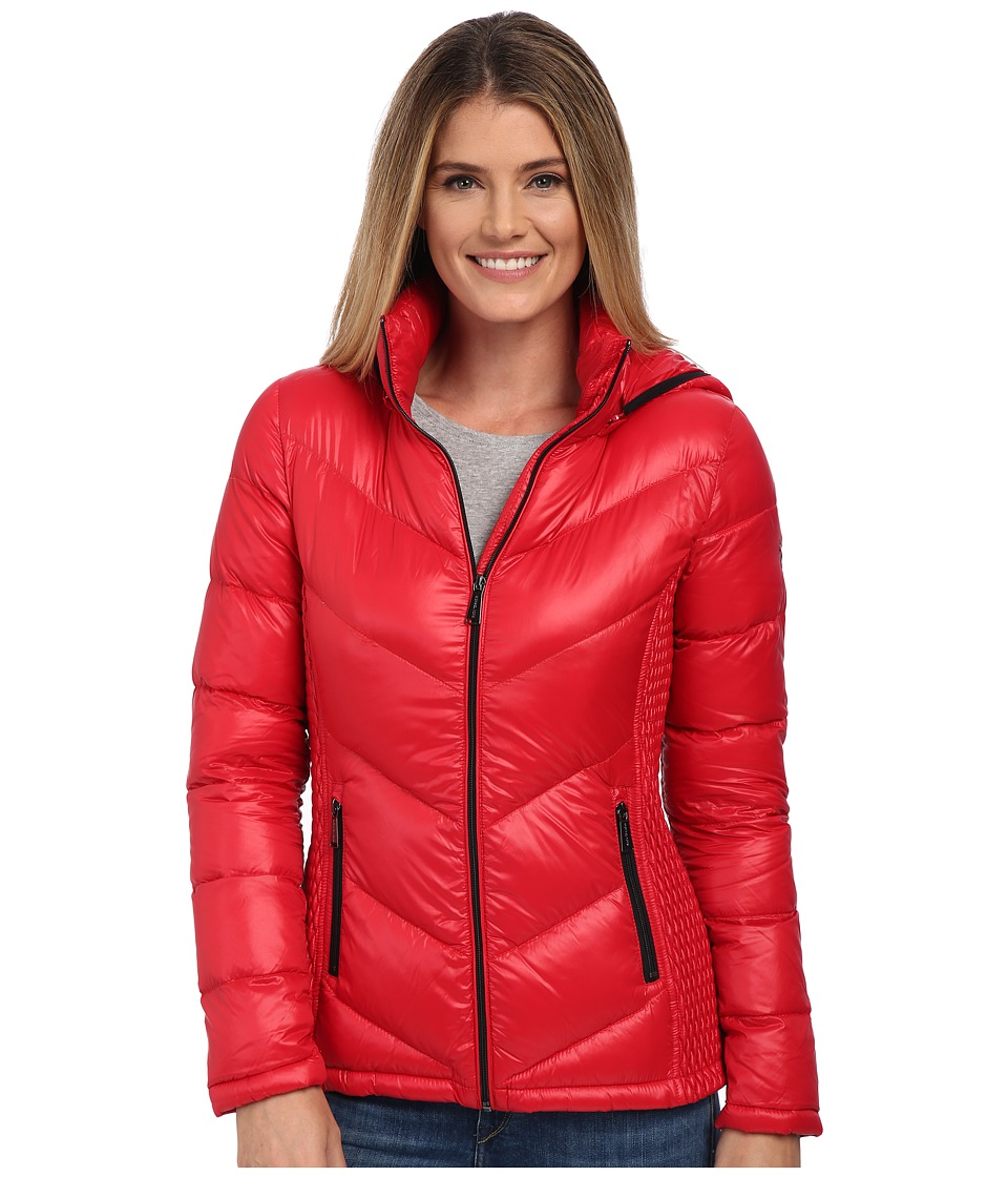 MICHAEL Michael Kors - Packable w/ Side Quilt Hood (Red) Women's Clothing
