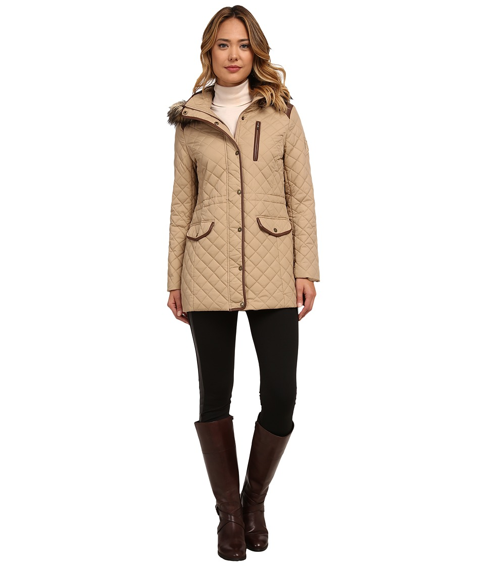 LAUREN Ralph Lauren - Anorak w/ Faux Fur Trim (Racing Khaki) Women's Coat